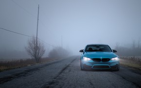 Обои Light, F80, Blue, BMW, LED, Fog, Autumn