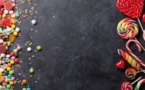 Картинка леденцы, конфетти, мармелад, зефир