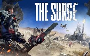 Картинка gun, game, robot, armor, weapon, man, saw, drone, The Surge