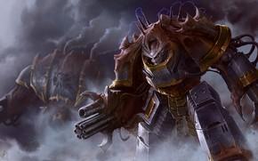 Картинка art, Warhammer 40k, Iron Warrior Obliterator, warhammer, chaos