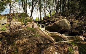Картинка Поток, Камни, Nature, Речка, River