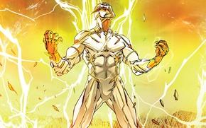 Картинка молнии, злодей, комикс, DC Comics, Godspeed, спидстер, Speedforce