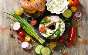Картинка еда, огурец, овощи, помидоры, соус, food, cream, бутерброды, сэндвичи