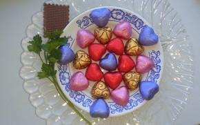 Картинка конфеты, сердечки, блюдо, Mamala ©