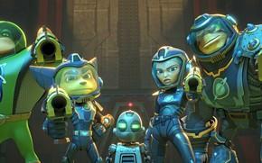Картинка gun, weapon, hero, animated film, seifuku, protector, animated movie, Ratchet and Clank, guardian, Ratchet & …