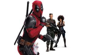 Обои Superheroes, Ryan Reynolds, Zazie Beetz, Josh Brolin, Deadpool, Domino, 20th Century Fox