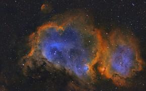 Обои Душа, IC1848, эмиссионная туманность, в созвездии Кассиопея