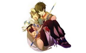 Картинка двое, венок, Fate Grand Order, Судьба великая кампания