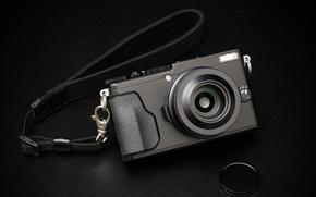 Обои объектив, Fujifilm X70, фотоаппарат, макро