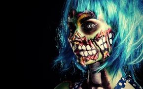 Картинка zombie, model, pose, make up