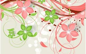Картинка цветы, фон, узор, текстура