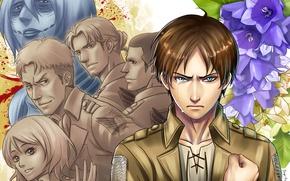 Картинка аниме, арт, Shingeki no Kyojin, Эрен Йегер, Атака титанов, Вторжение гигантов