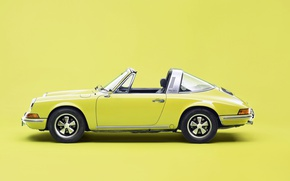 Картинка 911, yellow, porche, targa