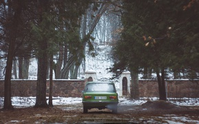 Картинка ретро, зелёный, советский, Жигули, ВАЗ-2101