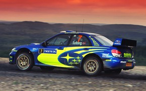 Картинка Авто, Subaru, Impreza, Спорт, Машина, Гонка, WRX, Автомобиль, STI, WRC, Субару, Импреза, WRX STI, Solberg, …