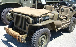 Картинка car, USA, army, Jeep