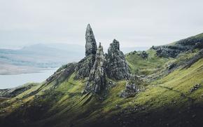 Картинка горы, скалы, остров, Шотландия