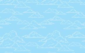 Картинка Текстура, Голубой Фон, Облока