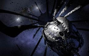 Картинка космос, звёзды, аппарат, Dark Shepherd, Derelict exterior