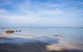 Картинка beach, sea, white sand, malaysia, kuantan, blue sea