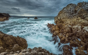 Картинка sea, nature, sky, marine, seascape, rocks, shore