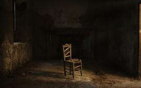 Картинка комната, стул, тени