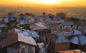 Картинка город, Sunset, Ankara