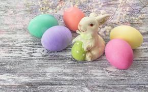 Картинка весна, Пасха, wood, spring, Easter, eggs, decoration, Happy, яйца крашеные