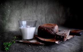 Обои молоко, хлеб, доска