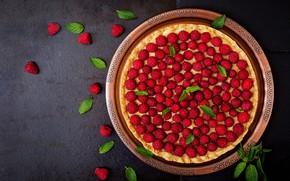 Обои ягоды, пирог, выпечка, клубника