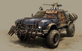 Обои машина, оружие, арт, Killer, Vitalii Smyk