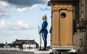 Обои Old Town, Stockholm, часовой