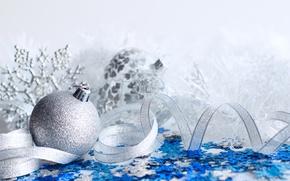 Картинка шары, Новый Год, Рождество, тесьма, merry christmas, decoration, xmas, holiday celebration