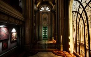 Картинка витраж, помещение, вход, Katha Island, Mystery Mansion