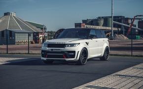 Картинка белый, внедорожник, Land Rover, Range Rover, Sport, кроссовер, рендж ровер, Prior-Design, ланд ровер, PD800RR