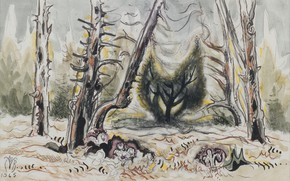 Картинка 1965, Charles Ephraim Burchfield, Hepaticas and Tree Spirit