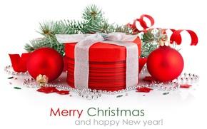 Картинка wallpaper, holidays, Happy New Year, Merry Christmas