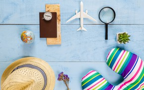 Картинка море, отдых, шляпа, Самолет, sea, hat, Лупа, Holiday, shoes, relaxation, The plane, Отпуск, a Magnifier