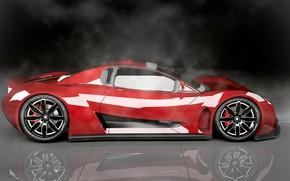 Картинка Concept, фон, Car, вид сбоку, R-Spec, High-Tech, Vultran Spectra