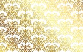 Обои золото, узор, текстура, gold, орнамент, pattern