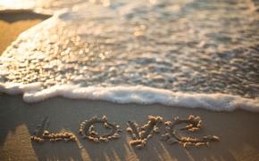 Картинка песок, море, волны, пляж, лето, любовь, summer, love, beach, sea, romantic, sand, боке, bokeh, wave