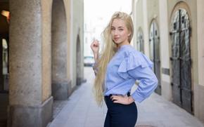 Картинка взгляд, улыбка, стиль, модель, Maja