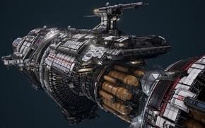 Картинка транспорт, конструкция, корабль, пушка, USR Colossus