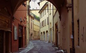 Картинка Улочка, Италия, Арка, Italy, Street, Italia, Bologna, Болонья