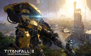 Картинка gun, game, robot, mecha, weapon, Titanfall, Titan, Titanfall 2, Colony Reborn Dlc