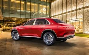 Обои электрокроссовер, 2018, Mercedes-Maybach, Ultimate Luxury, Maybach, Vision, вид сзади, Mercedes-Benz