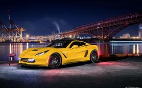 Картинка Corvette, Yellow, Chevroet, ZL-1