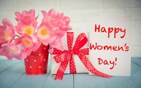Картинка цветы, colorful, тюльпаны, love, 8 марта, pink, romantic, tulips, gift