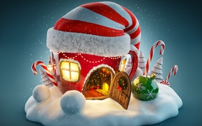 Картинка Новый Год, Рождество, snow, merry christmas, decoration