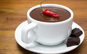 Картинка шоколад, чашка, перец
